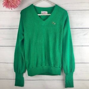Lacoste IZOD Original Green Vintage Sweater 764